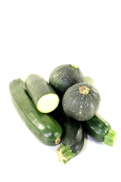 fresh green mixed zucchini