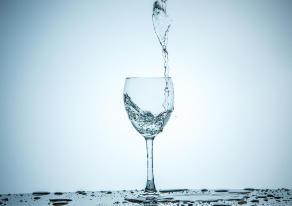 glass being filled with water