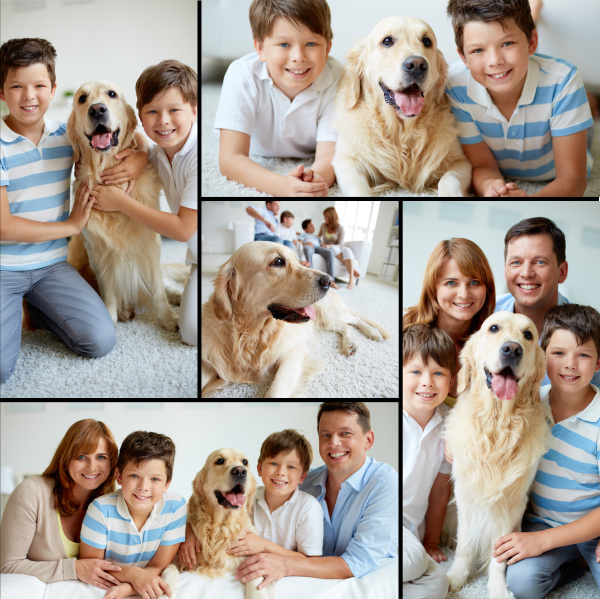 family with pet