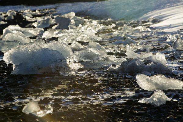 ice blocks at glacier lagoon jokulsarlon