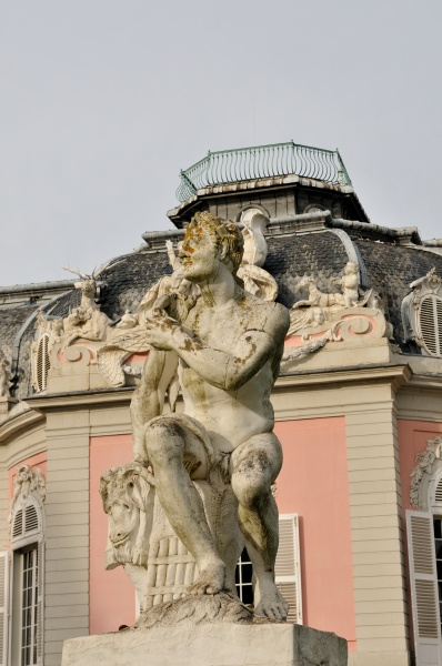 a statue at benrath castle in