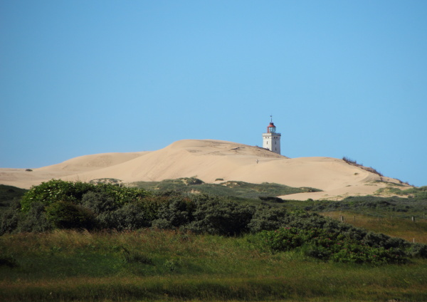 lighthouse at rubjerg knude with sand