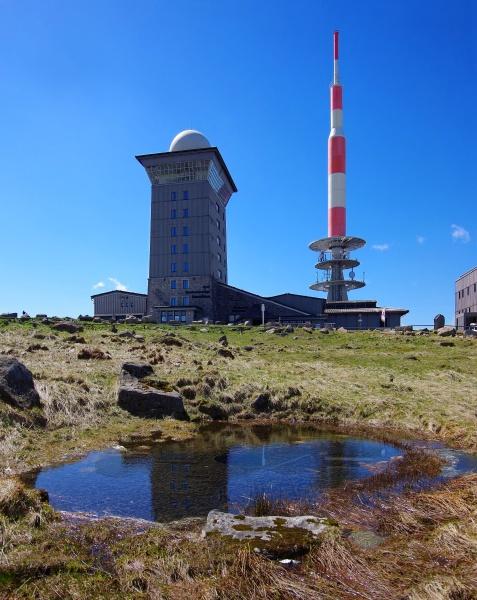 brocken broadcasting station in the harz