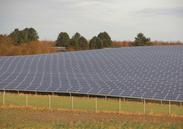 perspective of sun solar industrial plant