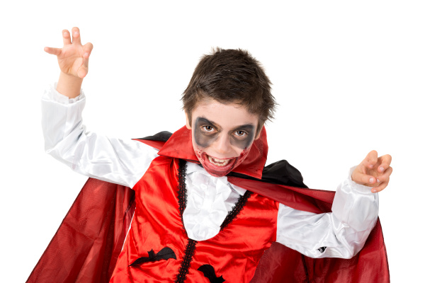 kid, in, halloween, costume - 16320825