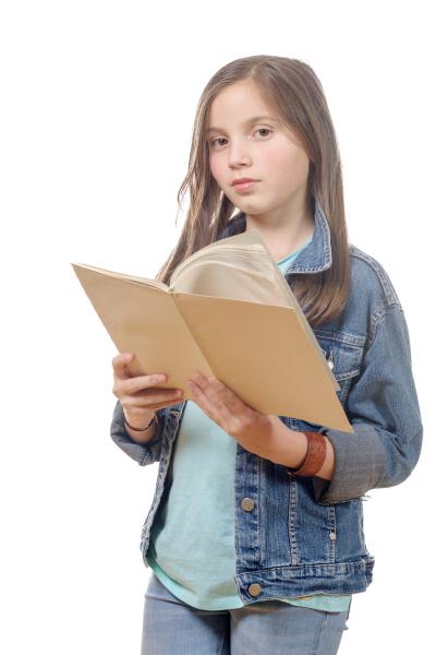 preteen, girl, reads, a, book - 16320727