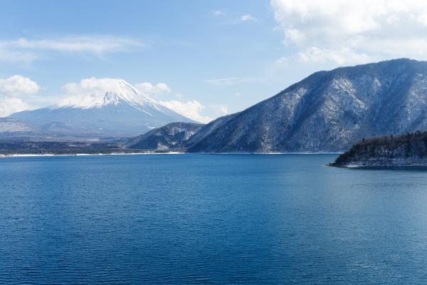 lake, motosu, and, fujisan - 16323317