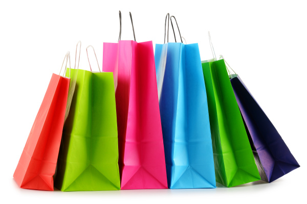 colorful, paper, shopping, bags, isolated, on - 16324803