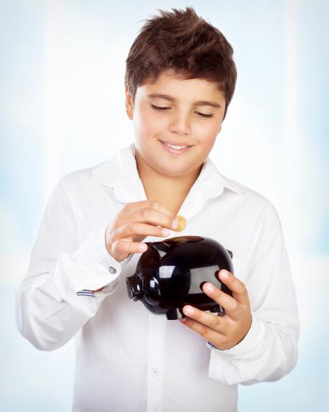 teen, boy, with, piggy, bank - 16325907