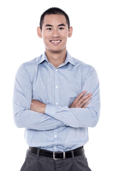 handsome, man, posing, in, casuals - 16327085