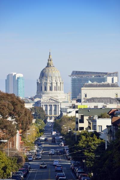 usa california san francisco view along