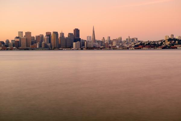 usa california san francisco skyline in