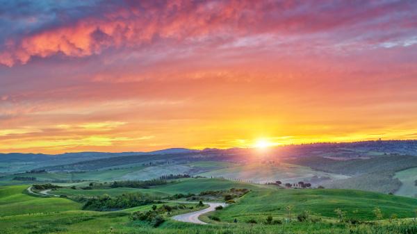 colorful, tuscany, sunrise - 16338367