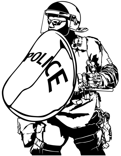 police, heavy, armor - 16354311