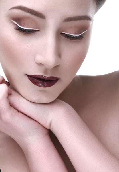 sophisticated, makeup, and, bright, lips - 16356345