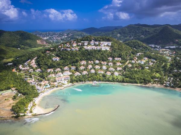 caribbean st lucia choc bay aerial