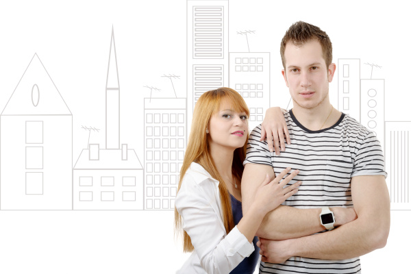 cheerful, young, couple, in, love - 16357247