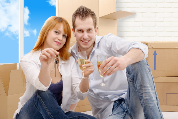 couple, celebrating, their, new, home, - 16357255