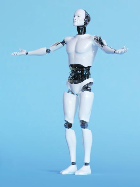 robot, man, in, welcoming, pose, - 16357003