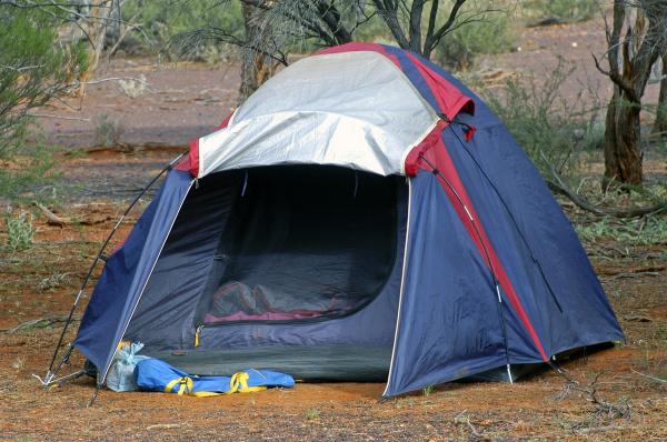 wilderness camping in the australian desert