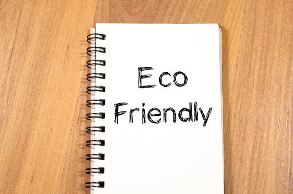 eco friendly text concept