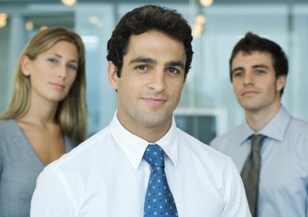 three business associates portrait