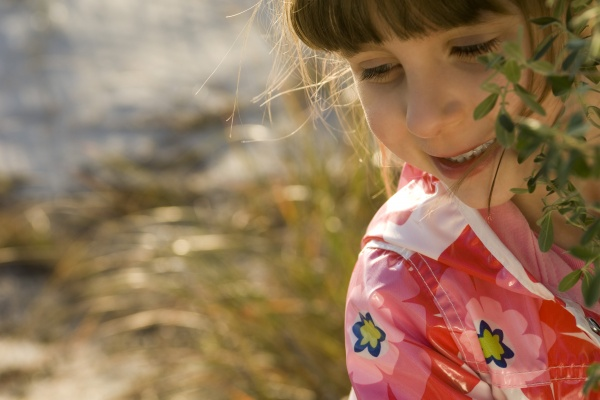 young girl outdoors portrait