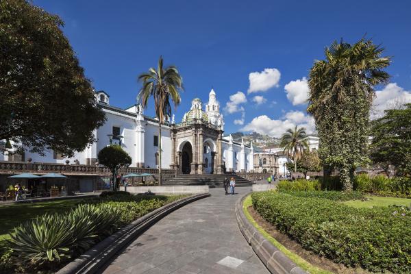 ecuador quito independence square and metropolitan