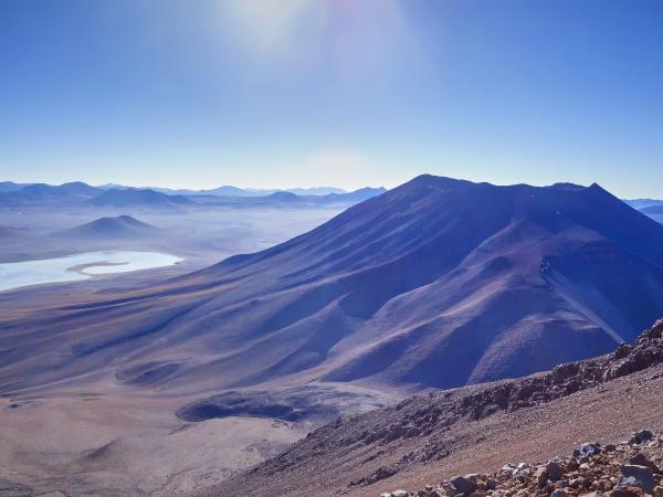 south america bolivia mountainous area at