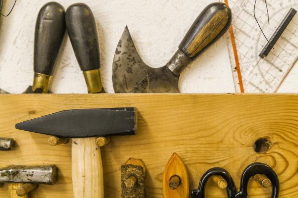 saddler s tools on tool board