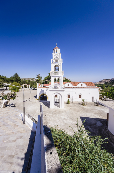 greece aegean islands rhodes church moni