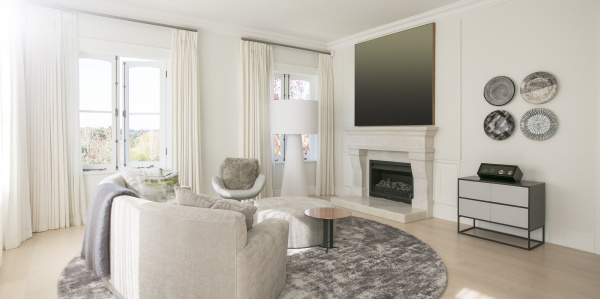 home showcase living room with marble