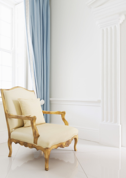 armchair in luxury home