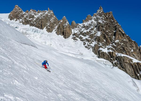 france chamonix valley blanche mountaineering
