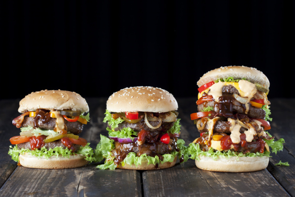 three double burgers