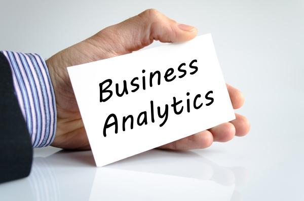 business analytics text concept