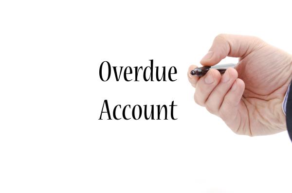 overdue account text concept