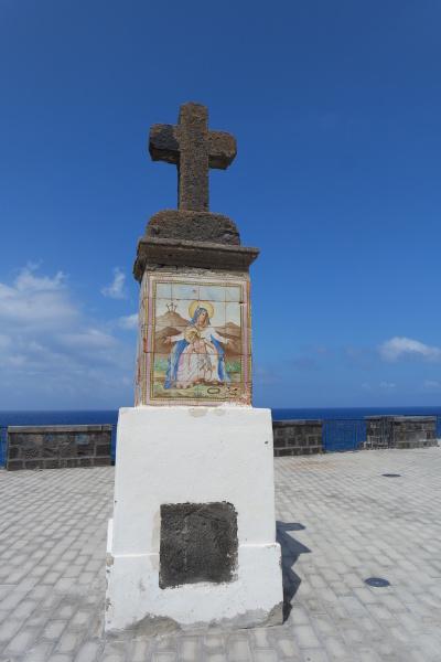 cross in front of pilgrimage church