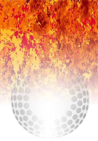 roaring flaming hockey ball