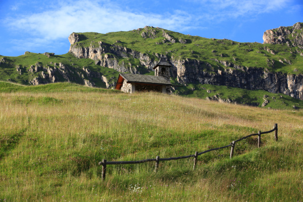 chapel on the seceda in the