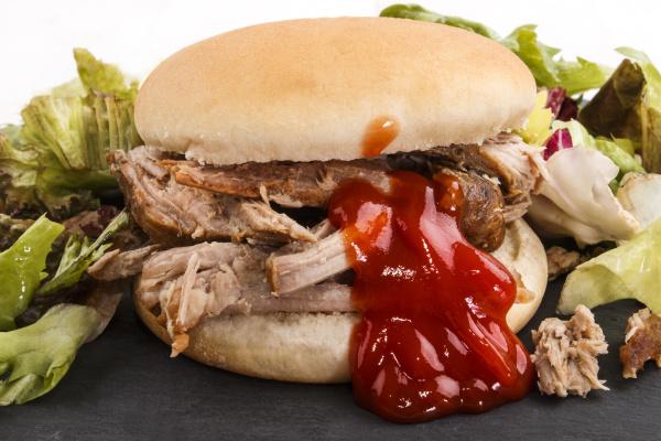 hamburger with pulled pork fresh