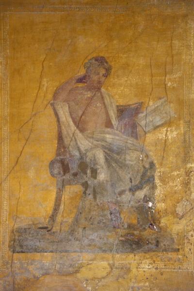 fresco of the poet menander