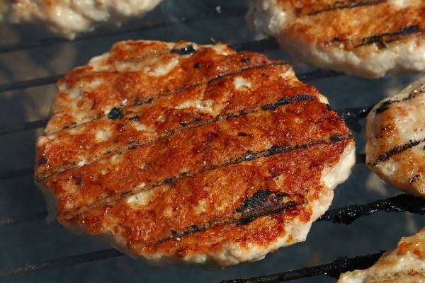 chicken or turkey burger for hamburger