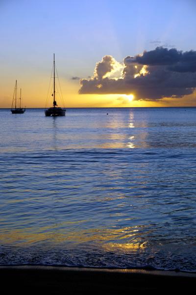 sunset st kitts and nevis leeward