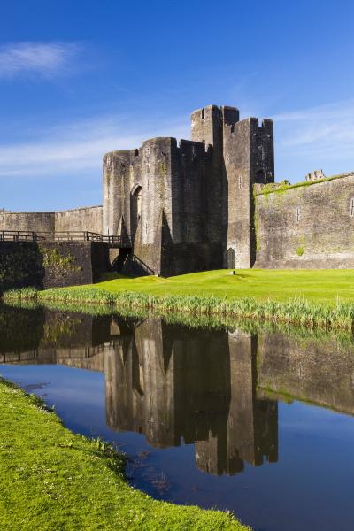 caerphilly castle gwent wales united kingdom