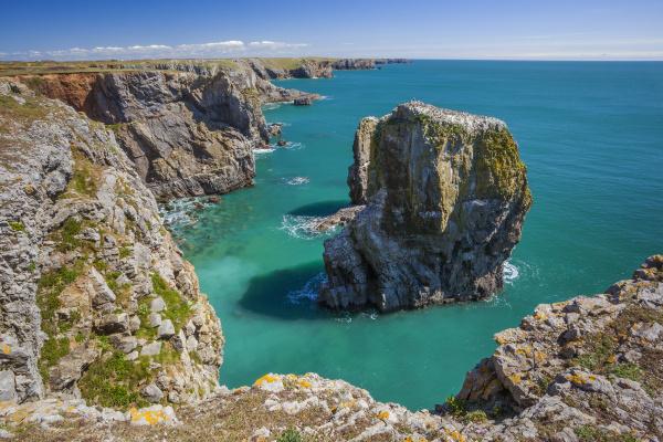 stack rocks castlemartin pembrokeshire coast wales