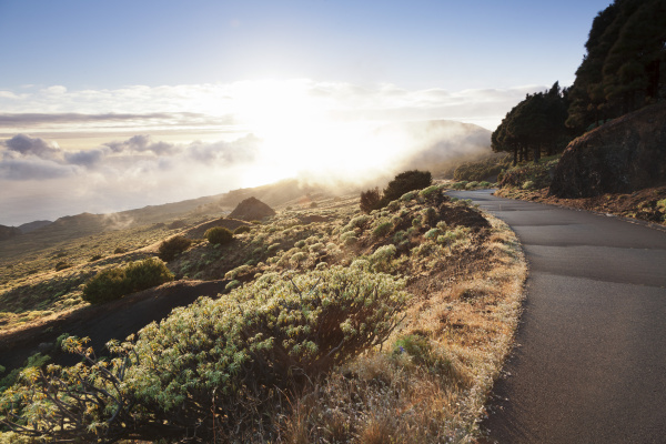 road at the south coast at