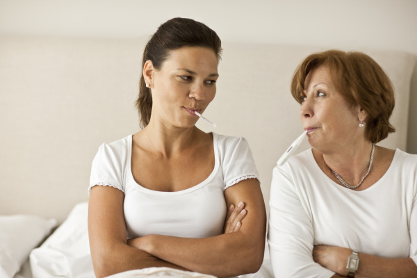 woman and her adult daughter both