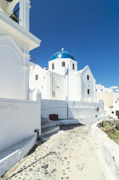 greece santorini fira view to church