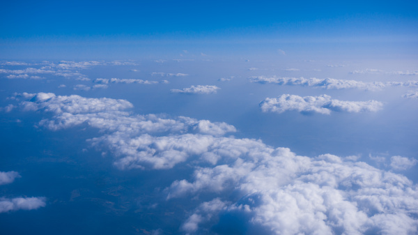 beautiful, cloud., , clouds, from, airplane - 19345356